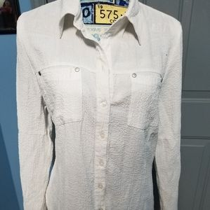 Isabella Rodriguez white button up blouse